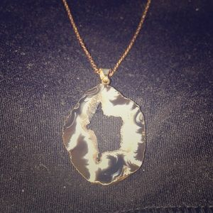 Jewelry - *SOLD* 18k Gold Geode Slice Necklace